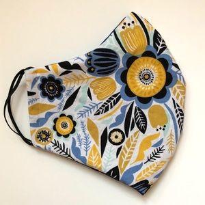 2/$15 SALE Face Mask Adult OSFM Floral Cotton